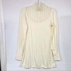 Free People Ivory Long Sleeve Tunic Dress